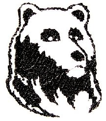 Bear Embroidered Flute Bag